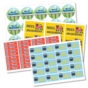 train engines name stickers for kids waterproof