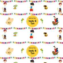 personalised wrapping paper with pirate theme