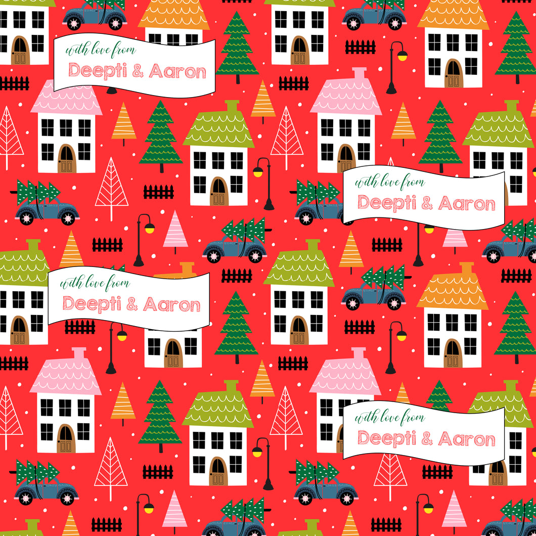 Personalised Wrapping Paper - Xmas At Home