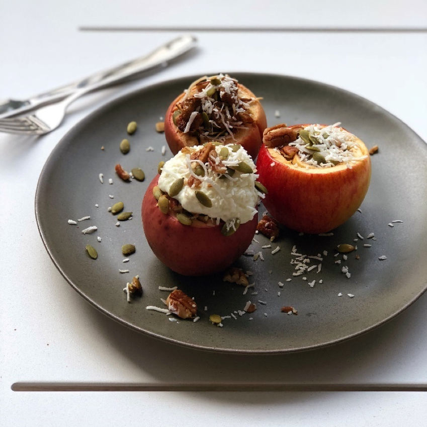 ALMOND BUTTER STUFFED APPLES