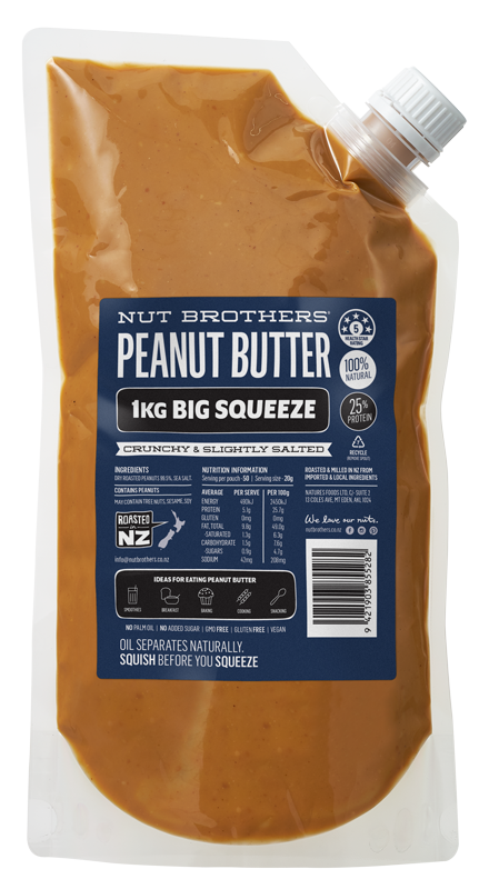 Peanut Butter Crunchy & Slightly Salted - 1kg Big Squeeze