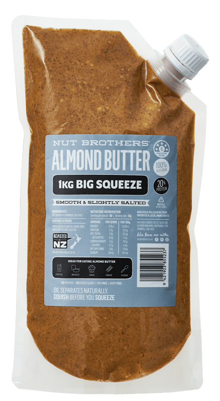 Almond Butter Smooth & Slightly Salted - 1kg Big Squeeze