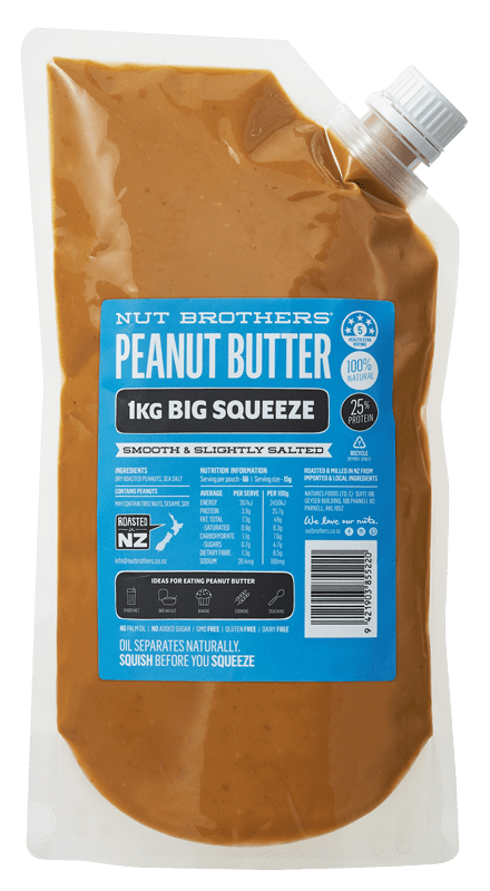 Peanut Butter Smooth & Slightly Salted - 1kg Big Squeeze