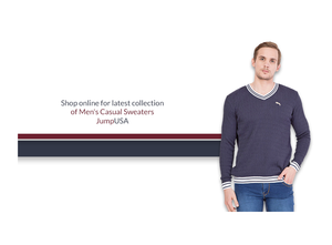 SHOP ONLINE FOR LATEST COLLECTION OF MEN'S CASUAL SWEATERS