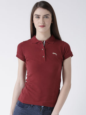 Women's Plain Short Sleeves Polo T-Shirt - Jump USA
