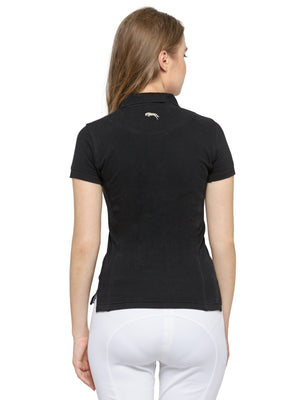 Women's Plain Short Sleeves Polo T-Shirt