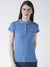 Women Plain Short Sleeves Polo T-Shirt