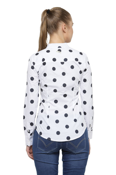 Women Polka Print Full Sleeve Shirt - JUMP USA