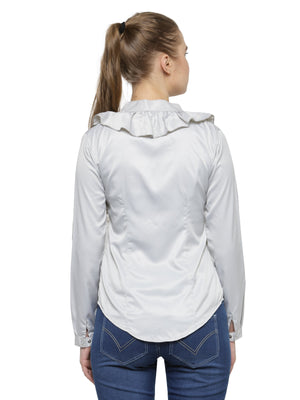 Women's Fashionable Long Sleeves Polyester Shirt - Jump USA