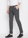 JUMP USA Men Grey Casual Slim Fit Solid Chinos - JUMP USA