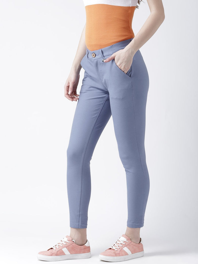 Women Blue Slim Fit Trouser