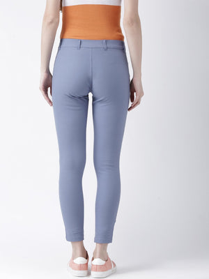 JUMP USA Women Blue Slim Fit Trouser - Jump USA