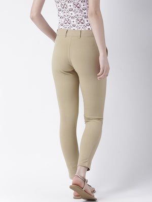 JUMP USA Women Beige Slim Fit Trouser - Jump USA