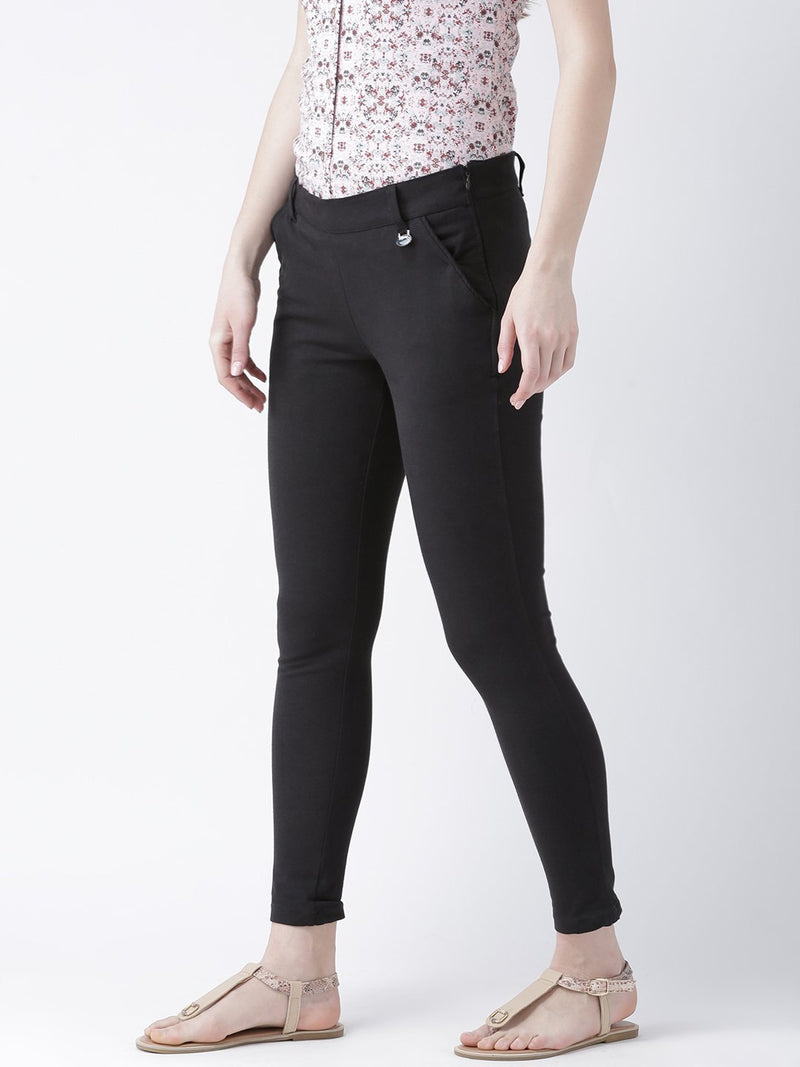 Women Black Slim Fit Trouser