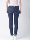 Women Blue Slim Fit Mid-Rise Clean Look Stretchable Jeans - JUMP USA