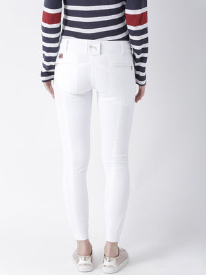JUMP USA Women White Slim Fit Trouser - Jump USA