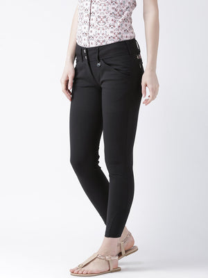 JUMP USA Women Black Slim Fit Trouser - Jump USA