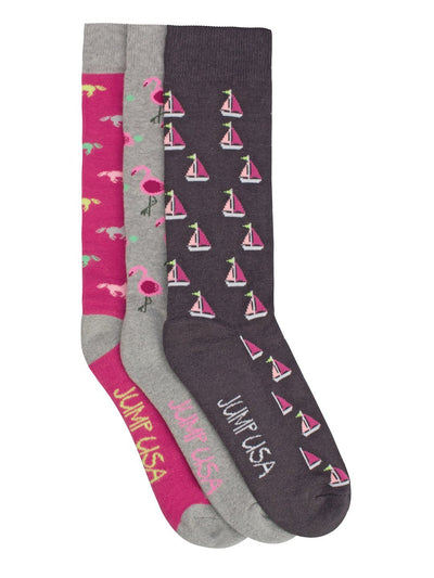 Women Pack of 3 Calf length Socks - JUMP USA
