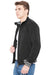 Men Regular Fit Black Lightweight Winter Jacket