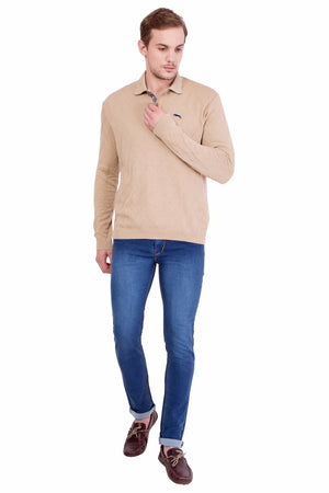 Men's Full Sleeve Cotton Sweater - Jump USA