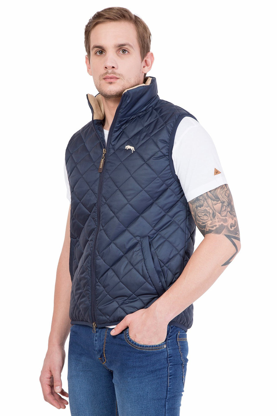Men's Half Sleeve Polyester Jacket