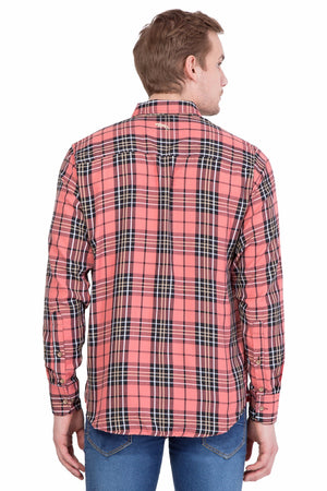Men's  Relaxed Fit Check Casual Shirt