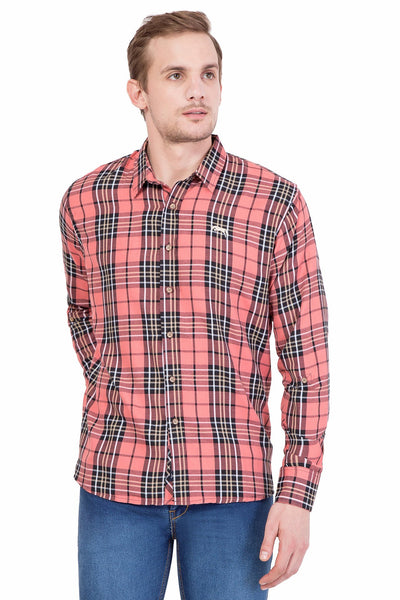Men Full Sleeve Slim Fit Multicolor Shirt - JUMP USA