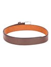 Men Brown Solid Leather Belt - JUMP USA