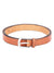 Men Tan Solid Leather Belt