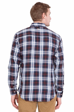 Relaxed Fit Black And Blue Check Casual Shirt
