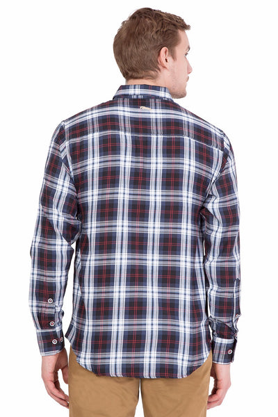 Relaxed Fit Black And Blue Check Casual Shirt - JUMP USA