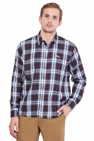 Men's Full Sleeve Slim Fit Multicolor Shirt