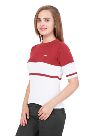 Women Half Sleeves Cotton Casual Sweater