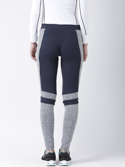 Women Navy blue Solid Tights - JUMP USA