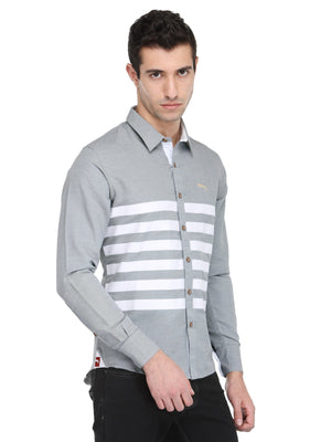Men's Slate Grey Cotton & Spandex Shirt