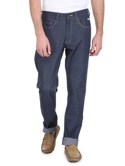 Men Regular Fit Four Way Streachable Jeans - JUMP USA