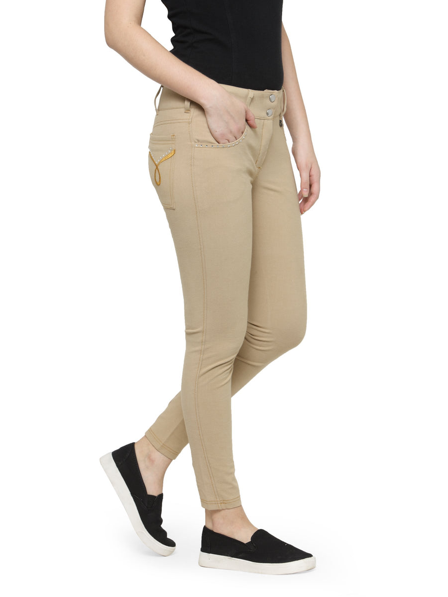 Women's Stylish U Pocket Cotton Jegging