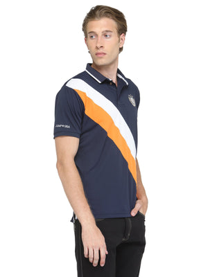 Men's Short Sleeve Solid Polo T-Shirt - Jump USA