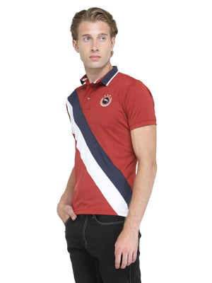 Men's Short Sleeve Solid Polo T-Shirt