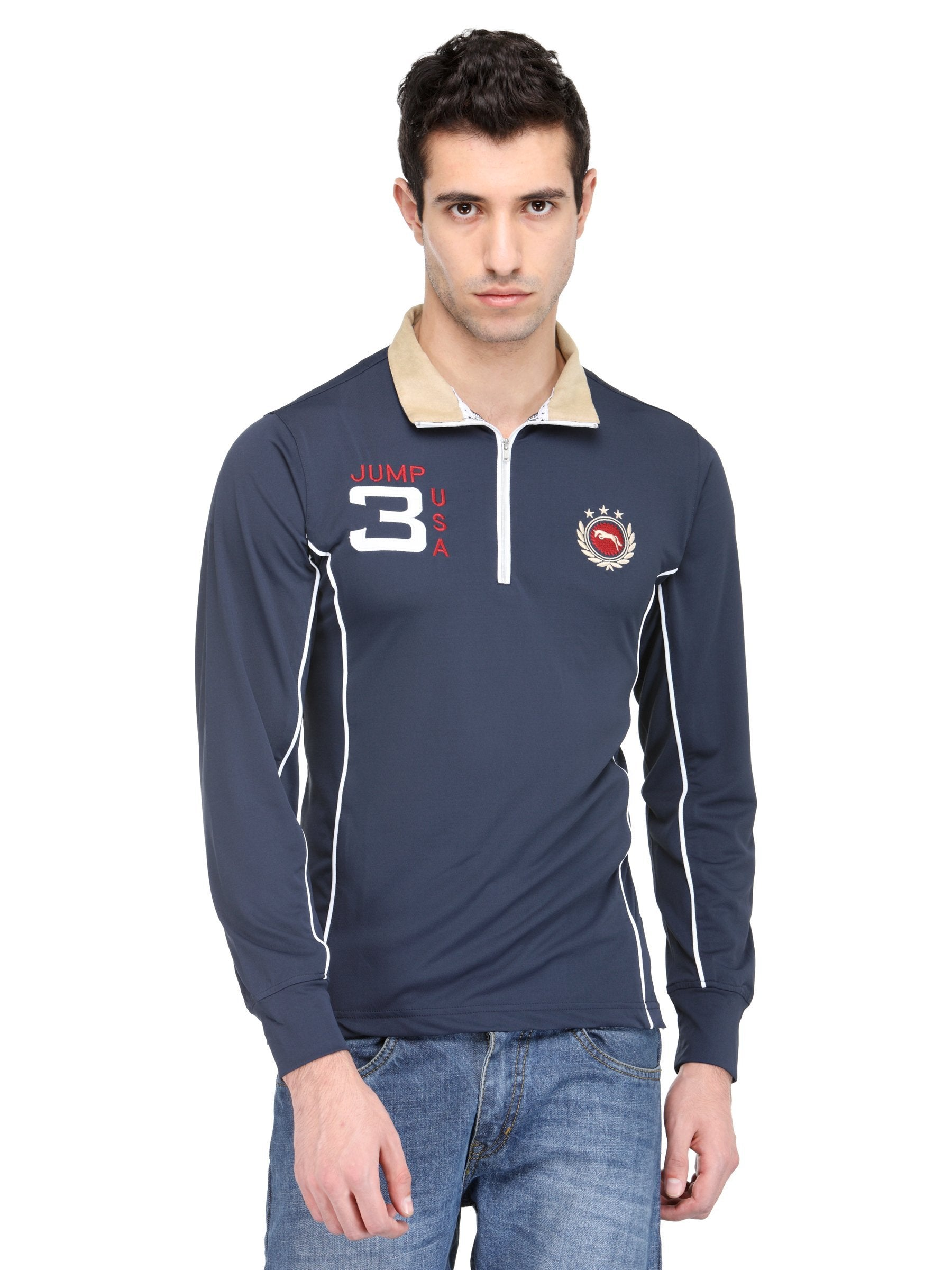 Electric Navy Micro Polyester Full Sleeve T-Shirt
