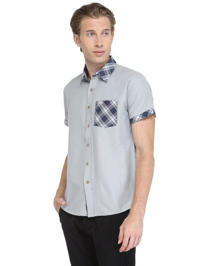 Men Short Sleeve Patch Pocket Shirt - JUMP USA