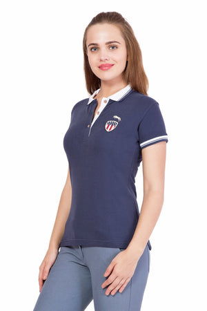 Women Short Sleeves Casual Polo T-Shirt
