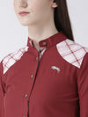 Women Red Regular Fit Solid Casual Shirt - JUMP USA