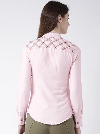 Women Pink Color Full Sleeve Shirt - JUMP USA