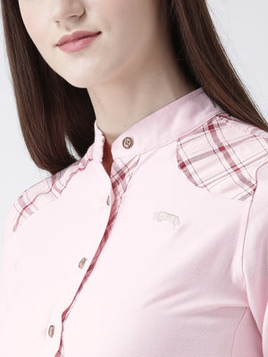 Women Pink Color Full Sleeve Shirt
