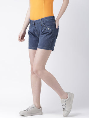 Women's Blue Color Short