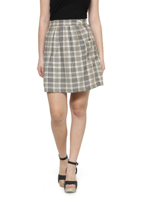 Women's Checkered Above Knee Length Skirt