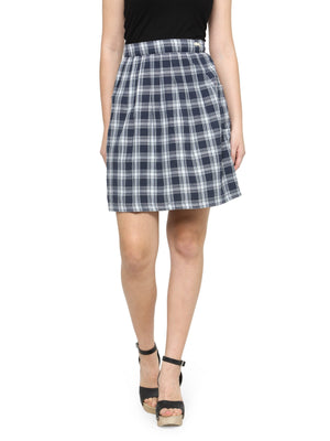 Women's Checkered Above Knee Length Skirt - Jump USA