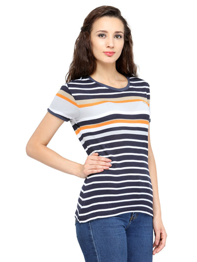 Women Multi-Color Short Sleeve T-Shirt - JUMP USA
