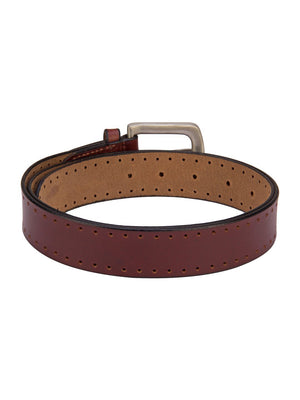 Asics Leather Belt With Metal Buckle